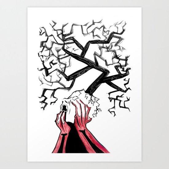 Lyrically Induced Agony Art Print