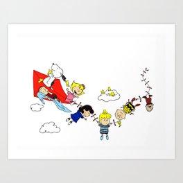 Peanuts Gang Art Print