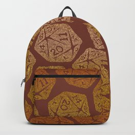 d20 - 70s vibe on brown - icosahedron gradient  Backpack