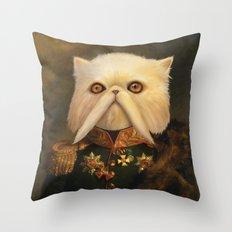 Persian Cat Emperor Throw Pillow