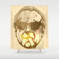 jack nicholson Shower Curtains featuring Jack Nicholson by BIG Colours