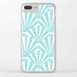 Sea shell Blue Clear iPhone Case