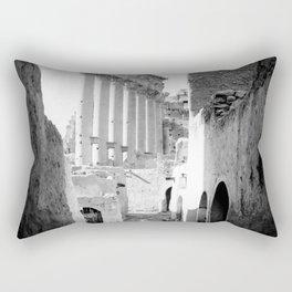 Palmyra, Street of village in Temple of the Sun. Rectangular Pillow