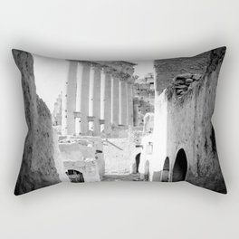Palmyra, Street of village in Temple of the Sun. Rectangular Pillow
