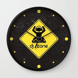 DJ Zone Rave Quote Wall Clock