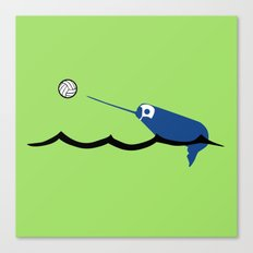Water Polo Narwhal Canvas Print