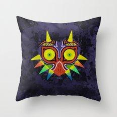 Majora's Mask Splatter Throw Pillow