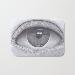 Beautiful Realistic Eye Shedding Tear Drawing Bath Mat