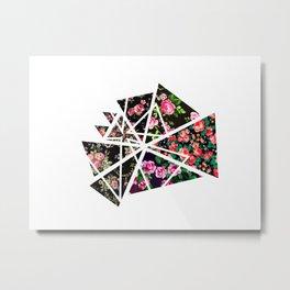 Triange Flowers Metal Print
