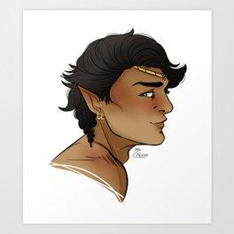 Raenor's Profile Art Print
