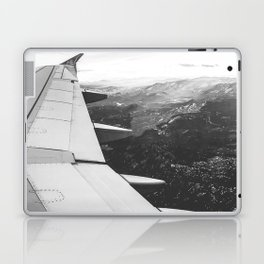 Mountain State // Colorado Rocky Mountains off the Wing of an Airplane Landscape Photo Laptop & iPad Skin