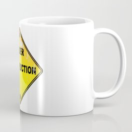 Yellow Under Construction Sign Coffee Mug
