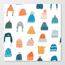 Winter hats Canvas Print