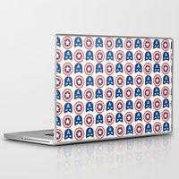 steve rogers Laptop & iPad Skins featuring Steve Rogers by Aya Ghoneim
