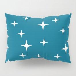 Mid Century Modern Star Pattern 443 Peacock Blue Pillow Sham