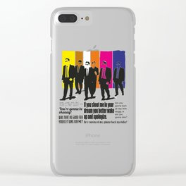 reservoir dogs Clear iPhone Case