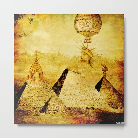 The transformation of pyramids Metal Print