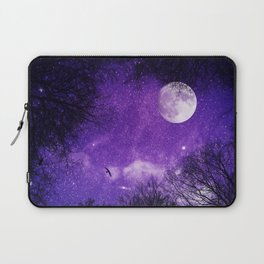 Nightsky with Full Moon in Ultra Violet Laptop Sleeve