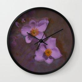 Petals in Lavender  Wall Clock