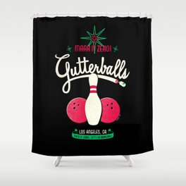 Gutterballs Shower Curtain