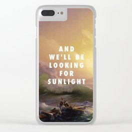 Ivan Aivazovsky, The Ninth Wave (1850) / Halsey, Roman Holiday (2015) Clear iPhone Case