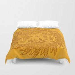 Ganesha Lineart Yellow Duvet Cover