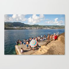 People waiting at the islet Canvas Print