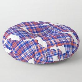 Florida university gators orange and blue college sports football plaid pattern Floor Pillow
