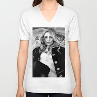 cara delevingne V-neck T-shirts featuring cara delevingne by donotseemeart