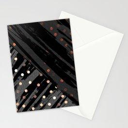 Elegant Contemporary Silver Zebra Polka Dots Pattern Stationery Cards