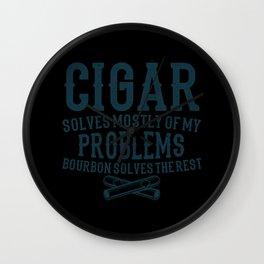 SOLVE PROBLEMS Cigar Aficionado Gift Cigar Smoker Wall Clock