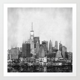 New York City Skyline Sketch Art Print