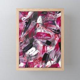 Pink Modern Abstract Wall Art Framed Mini Art Print