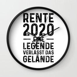 Rente 2020 Eine Legende Verlässt Das Gelände Wall Clock