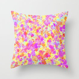 Splattered Pastel Watercolour Paint Look Throw Pillow