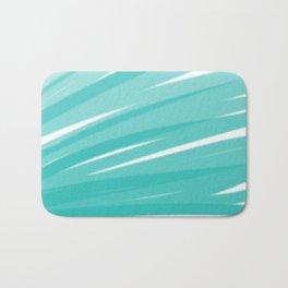 Bahama Blue Line Art, Variable Opacity Color Study - 3 Bath Mat