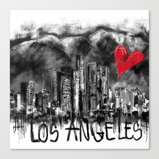I love Los Angeles Canvas Print