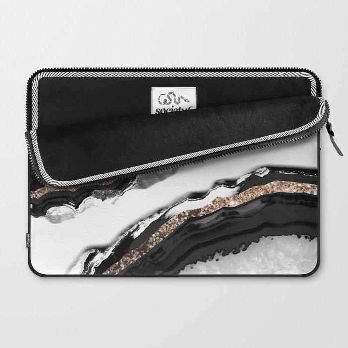 Agate Glitter Glam #2 #gem #decor #art #society6 Laptop Sleeve