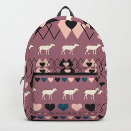 Romantic decor with deer in purple Backpack