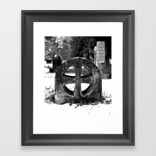 Winter cross Framed Art Print