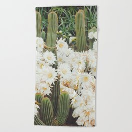 Cactus and Flowers Beach Towel