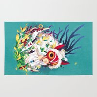 princess mononoke Area & Throw Rugs featuring Princess Mononoke by Stephanie Kao