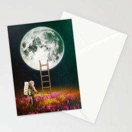 Going To The Moon Stationery Cards