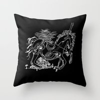 catcher in the rye Throw Pillows featuring The Catcher In The Rye by Jeremy Jon Myers