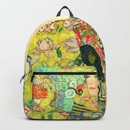 """Gustav Klimt """"Lady with fan"""" Backpack"""