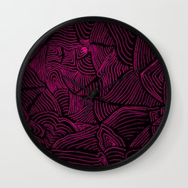 Pink Lines Wall Clock