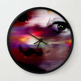 Burning Eyes 01 Wall Clock