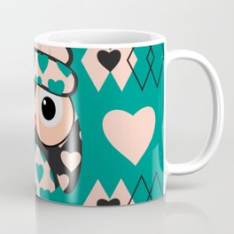 Owl and heart pattern Coffee Mug