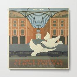 Vintage poster - Milan Metal Print