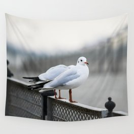 Sitting on The Fence Wall Tapestry